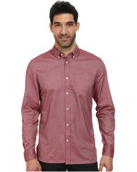 Lacoste Ls Washed Oxford Solid Woven Shirt - Lyst