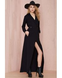Nasty Gal Stone Cold Fox Boston Wrap Dress - Black - Lyst