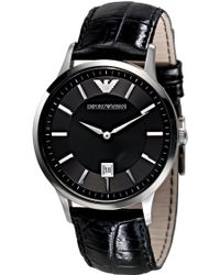 Emporio Armani - Ar2411 Men's Leather Strap Watch - Lyst