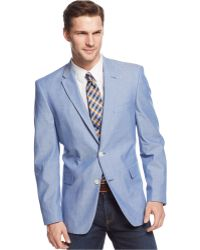 Tommy Hilfiger Chambray Trim-Fit Sport Coat - Lyst