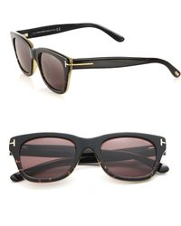 Tom Ford   52mm Rectangular Acetate Sunglasses   Lyst