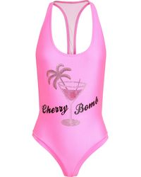 Filles A Papa Embellished Cherry Bomb Swimsuit - Lyst