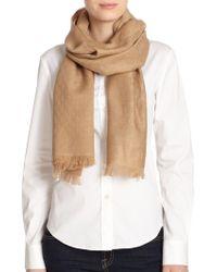 Gucci Logo Wool & Linen Jacquard Scarf - Lyst