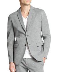 Theory Tobias Slim-Fit Stretch Cotton Blazer gray - Lyst