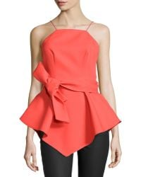 Cameo - Warm Water Peplum Top W/bow - Lyst