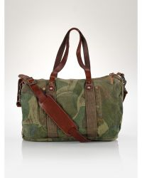 Ralph Lauren Camo Canvas Gym Bag - Lyst