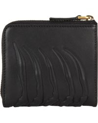 Alexander McQueen Rib-Cage-Embossed Zip Pouch - Lyst