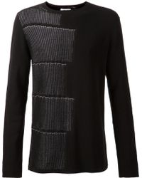 Helmut Lang Patern Detail Sweater - Lyst