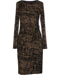 Max Mara Studio Khaki Kneelength Dress - Lyst