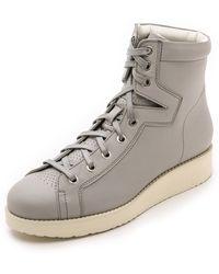 Acne Studios Feliks High Top Sneakers - Grey - Lyst