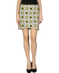 Versus  Mini Skirt green - Lyst