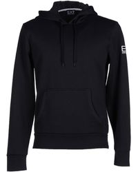 Ea7 Sweatshirt black - Lyst