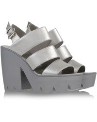 Vic Matie' Sandals silver - Lyst