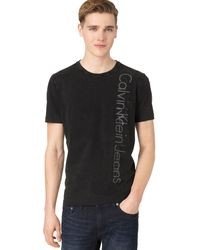 Calvin Klein Black Logo T-shirt - Lyst