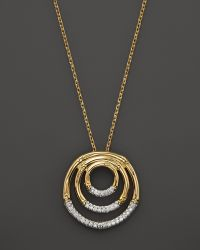 John Hardy Bamboo 18k Gold Diamond Pave Round Drop Pendant Necklace with Diamonds 16 - Lyst