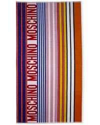 Moschino | Striped Logo Beach Towel | Lyst