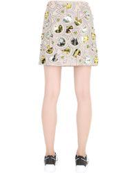 DKNY Embellished Techno Crepe Skirt - Lyst