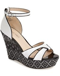 Nine West 'Jacoby' Espadrille Wedge Sandal white - Lyst