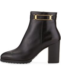 Tod's Rectangle-buckle Ankle Boot - Lyst