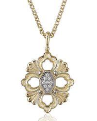 Buccellati Opera - Pendant With Diamonds, 18k Yellow Gold - Metallic