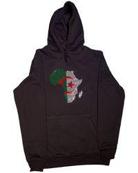 AFROKINGS Algeria Unisex Rhinestone Premium Hoodie - Black