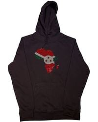 AFROKINGS Burundi Unisex Rhinestone Premium Hoodie - Multicolour