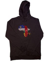 AFROKINGS Central African Republic Unisex Rhinestone Premium Hoodie - Multicolour