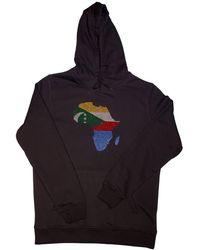 AFROKINGS Comoros Unisex Rhinestone Premium Hoodie - Multicolour
