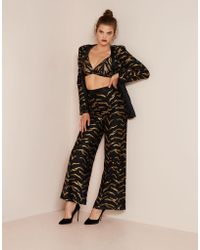 Agent Provocateur - Genevieve Tux Jacket Black And Gold - Lyst