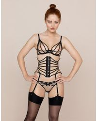 Agent Provocateur - Rubi Waspie Black And Nude - Lyst