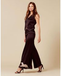 Agent Provocateur - Selene Panther Pyjama Bottom Black - Lyst