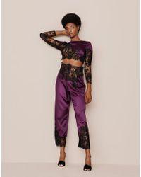 Agent Provocateur - Nayeli Pyjama Bottom Plum And Black - Lyst