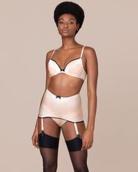 Agent Provocateur - Felinda Fifties Style Suspender Nude And Black - Lyst