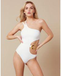 Agent Provocateur - Sierah Swimsuit White - Lyst