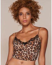 Agent Provocateur - Novak Camisole Brown Leopard Print - Lyst