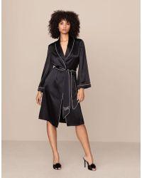Agent Provocateur - Classic Dressing Gown Black - Lyst