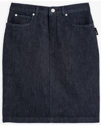 agnès b. Blue Denim Mini Skirt