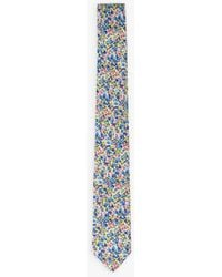 agnès b. Green Alexi Tie With Small Flowers Print