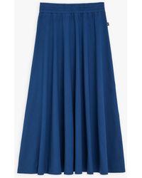 agnès b. Dark Blue Jersey Milane Long Skirt