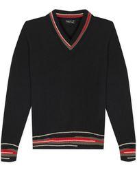 agnès b. - Black Merino Wool Ray Jumper - Lyst