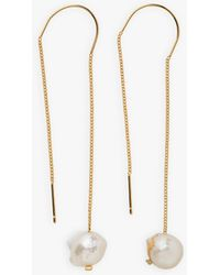 agnès b. Svea Earrings With Mother Of Pearl - Yellow