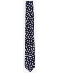agnès b. Black Oli Tie With Floral Print