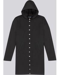 agnès b. - Black Yvan Coat With Metal Press-stud Fastening - Lyst
