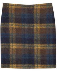 agnès b. - Checked Short Zip Skirt - Lyst