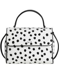agnès b. - White Dots Print Leather Handbag - Lyst