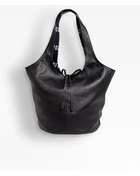 agnès b. Black Leather Stala Bag