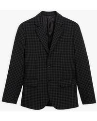 agnès b. Black Checked Domino Jacket