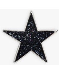 agnès b. Navy Blue Glittery Estrella Pin