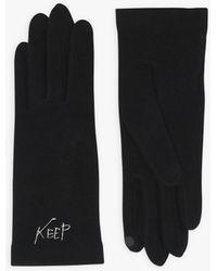 agnès b. Black Keep Singing Touch Screen Gloves