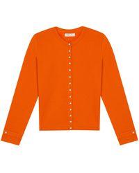 agnès b. - Orange Rosana Snap Cardigan - Lyst
